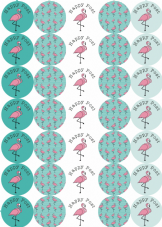 Flamingo Happy Post - 37mm  - 5 Designs - FIVE FOR £5.00 OFFER